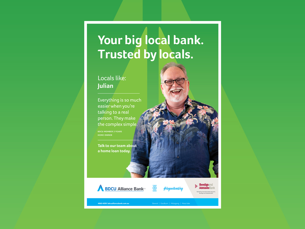BDCU Alliance Bank Poster, Banter Group, Marketing Agency