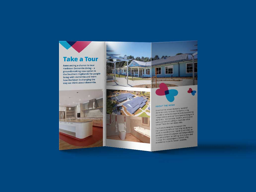 Harison Tri-fold brochure deign, Banter Group, Marketing Agency