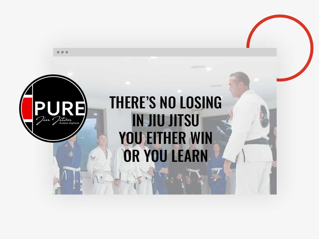 Pure Jui Jitsu website, Banter Group, Marketing Agency