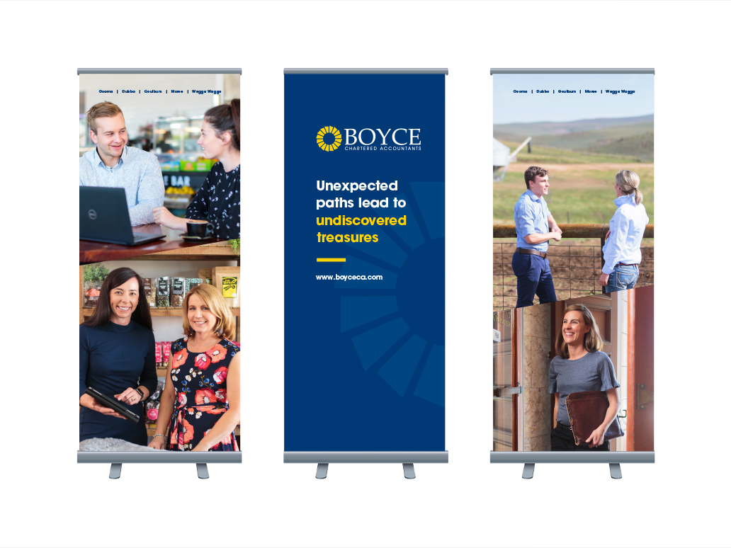 Boyce Accountants Pull Up Banner