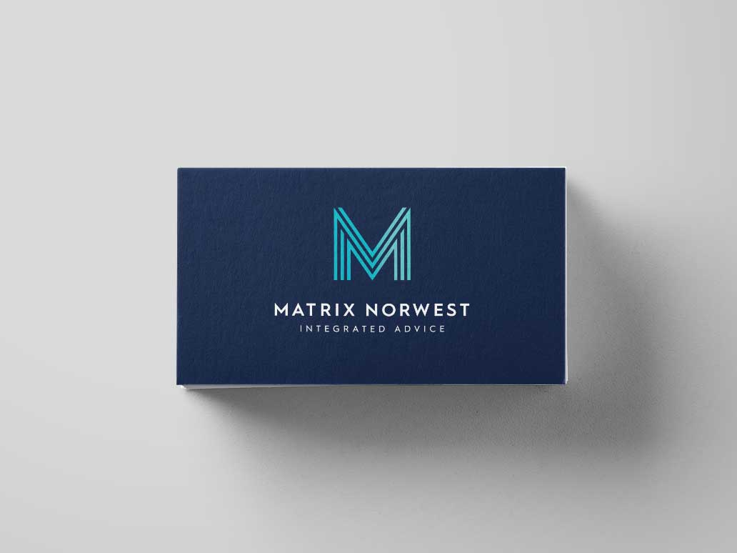 Matrix Norwest Business Card Design, Banter Group, Marketing Agency