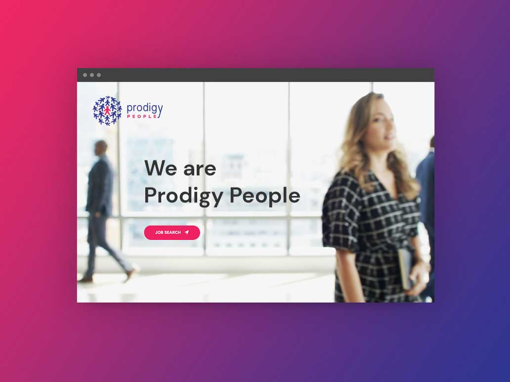 Prodigy People Website Development, Banter Group, Marketing Agency