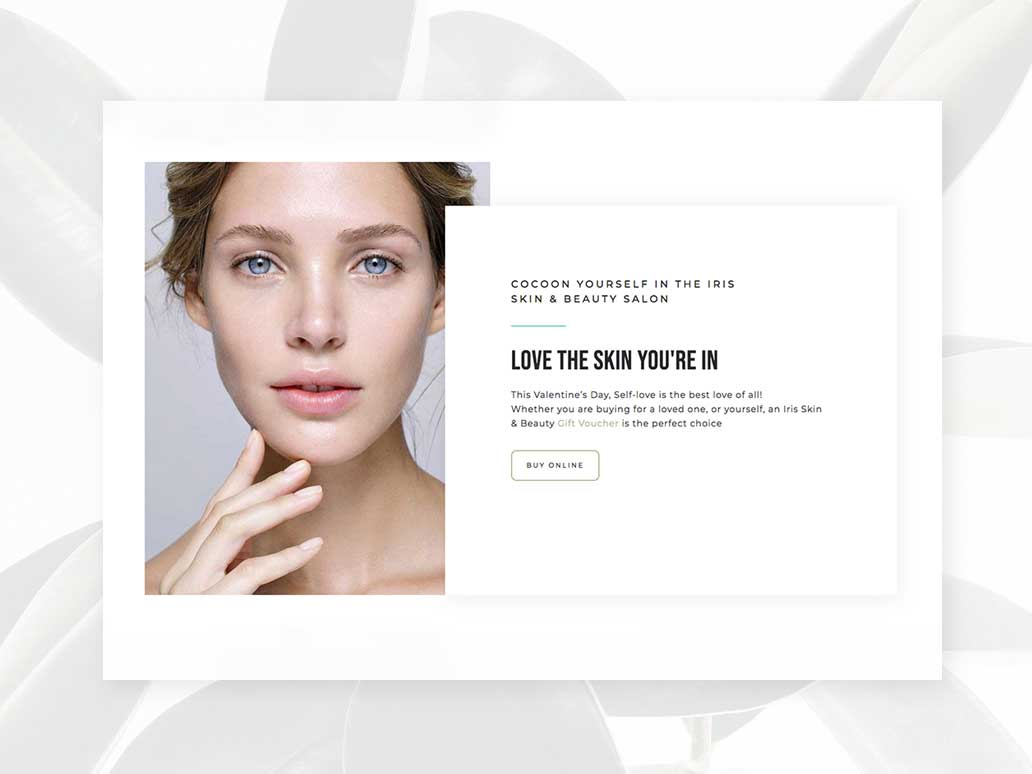 Iris Skin and Beauty, Website Development and Branding, Banter Group, Marketing Agency