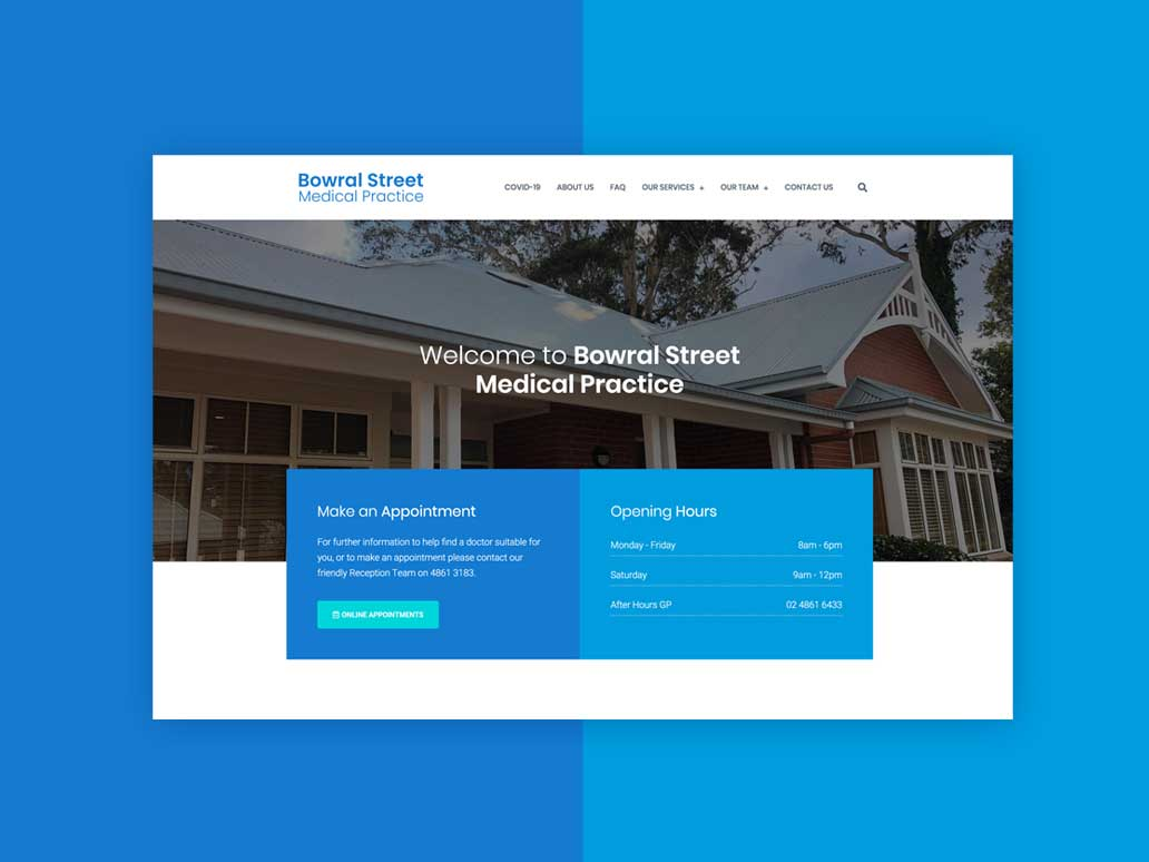 Bowral Street Medical Practice, Website Development, Banter Group, Marketing Agency